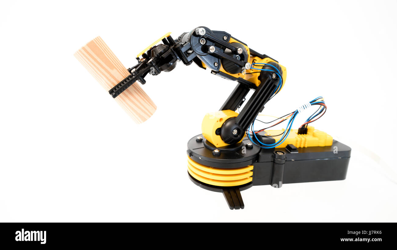 industrial robot arm model - Stock Image