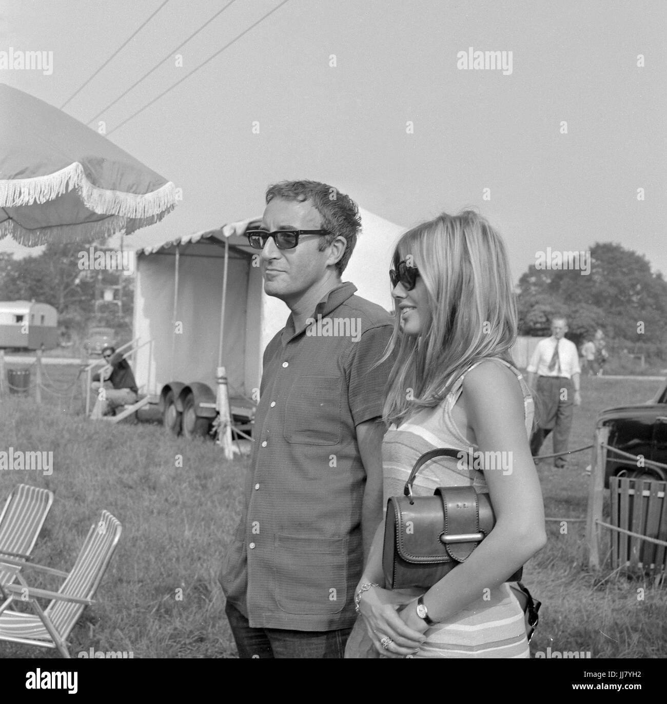 Peter Sellers with Britt Ekland at Beaulieu - Stock Image