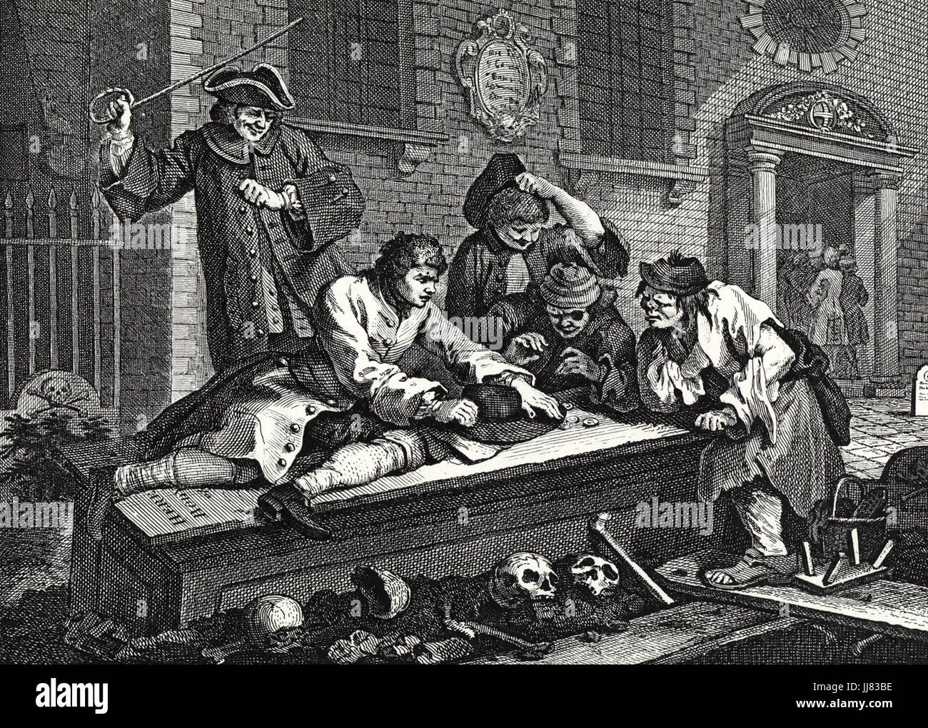 WILLIAM HOGARTH (1697-1764) English painter and printmaker. The Idle Apprentice in one of the Industry and Idleness - Stock Image