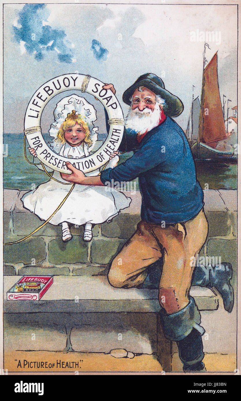 LIFEBUOY SOAP advert about 1910 - Stock Image