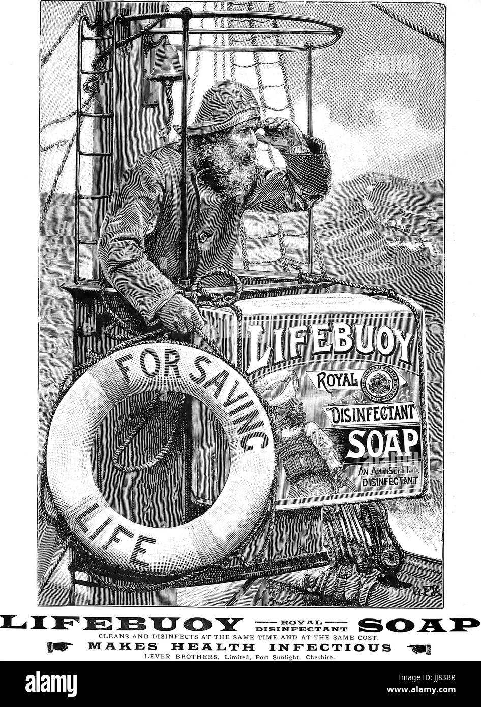 LIFEBUOY SOAP advert in 1903 - Stock Image