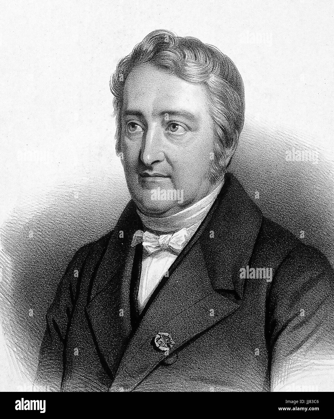 PIERRE JOSEPH PELLETIER (1788-1842) French chemist - Stock Image