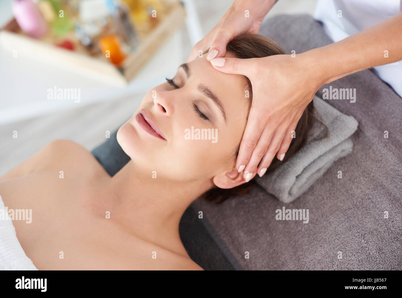The best way to relax of soul and mind Stock Photo