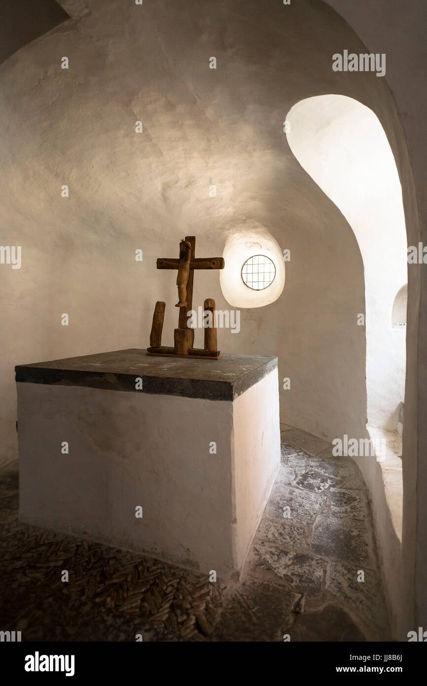 DEU, Germany, Sauerland region, Moehnesee, the chapel in Drueggelte.  DEU, Deutschland, Sauerland, Moehnesee, die Stock Photo