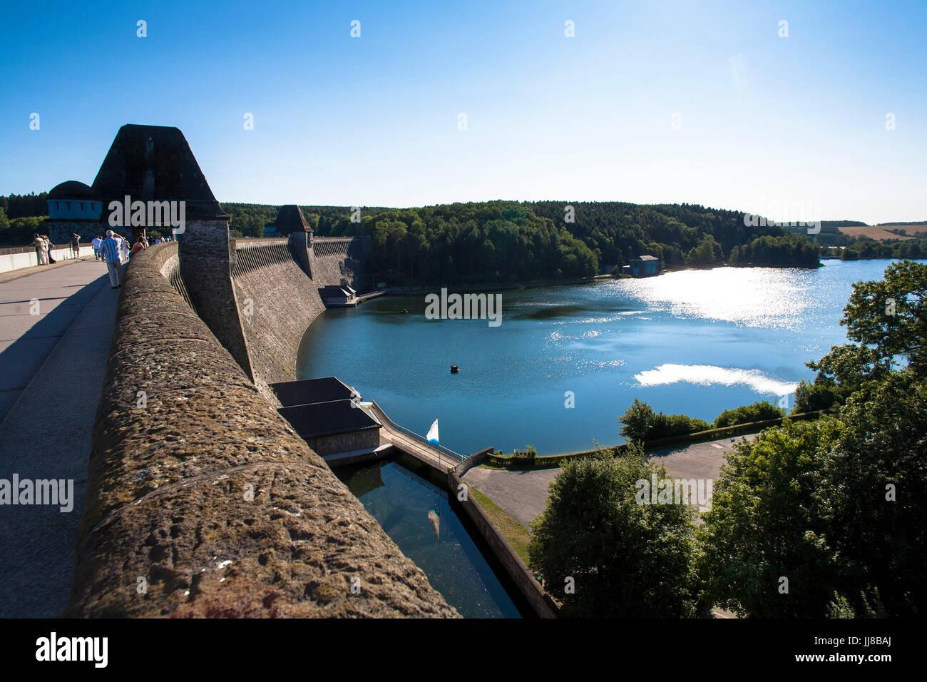 DEU, Germany, Sauerland region, Moehnesee, Moehnesee water supply dam.  DEU, Deutschland, Sauerland, Moehnesee, Stock Photo