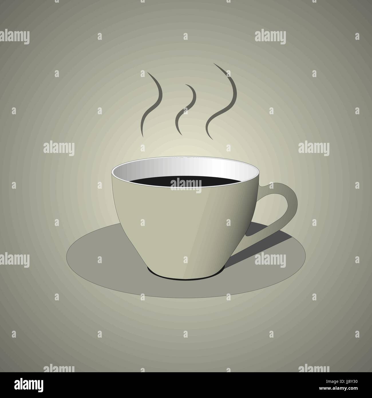 White cup with fresh blended coffee icon, flat design in black and white colors Stock Vector