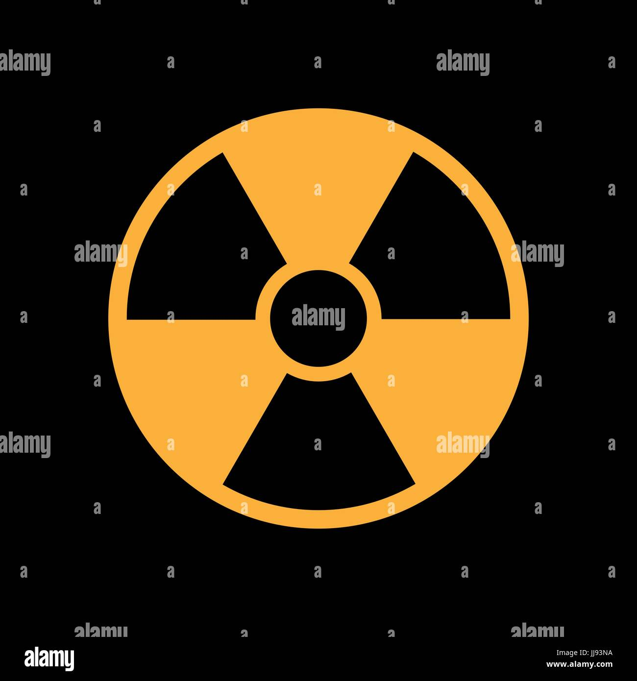 radiation icon in flat style, isolated symbol - Stock Image