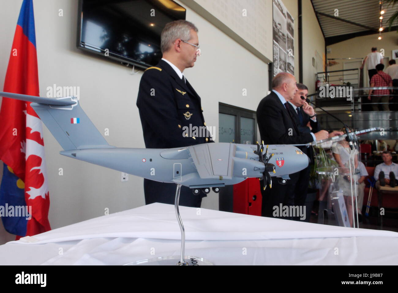Naming ceremony for new Air Force Airbus A400, Lyon-Bron (France) - Stock Image