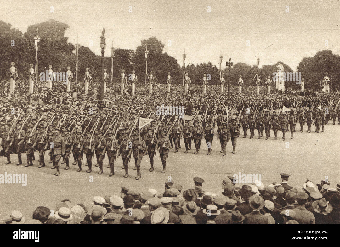 Victory parade Southern Command infantry, 1919 - Stock Image
