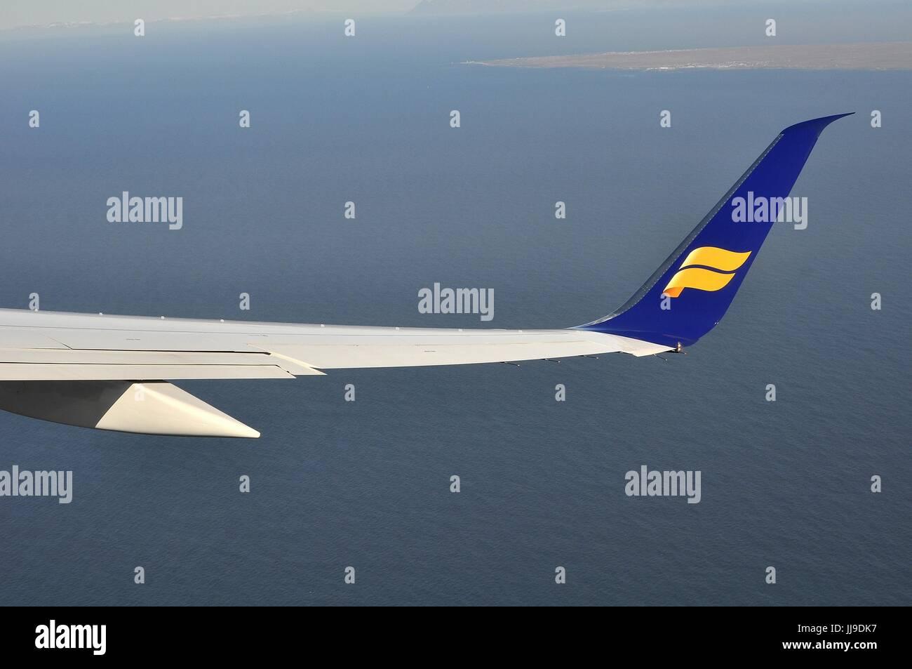 NEW WINGLET ON ICELANDAIR BOEING 757-200 - Stock Image