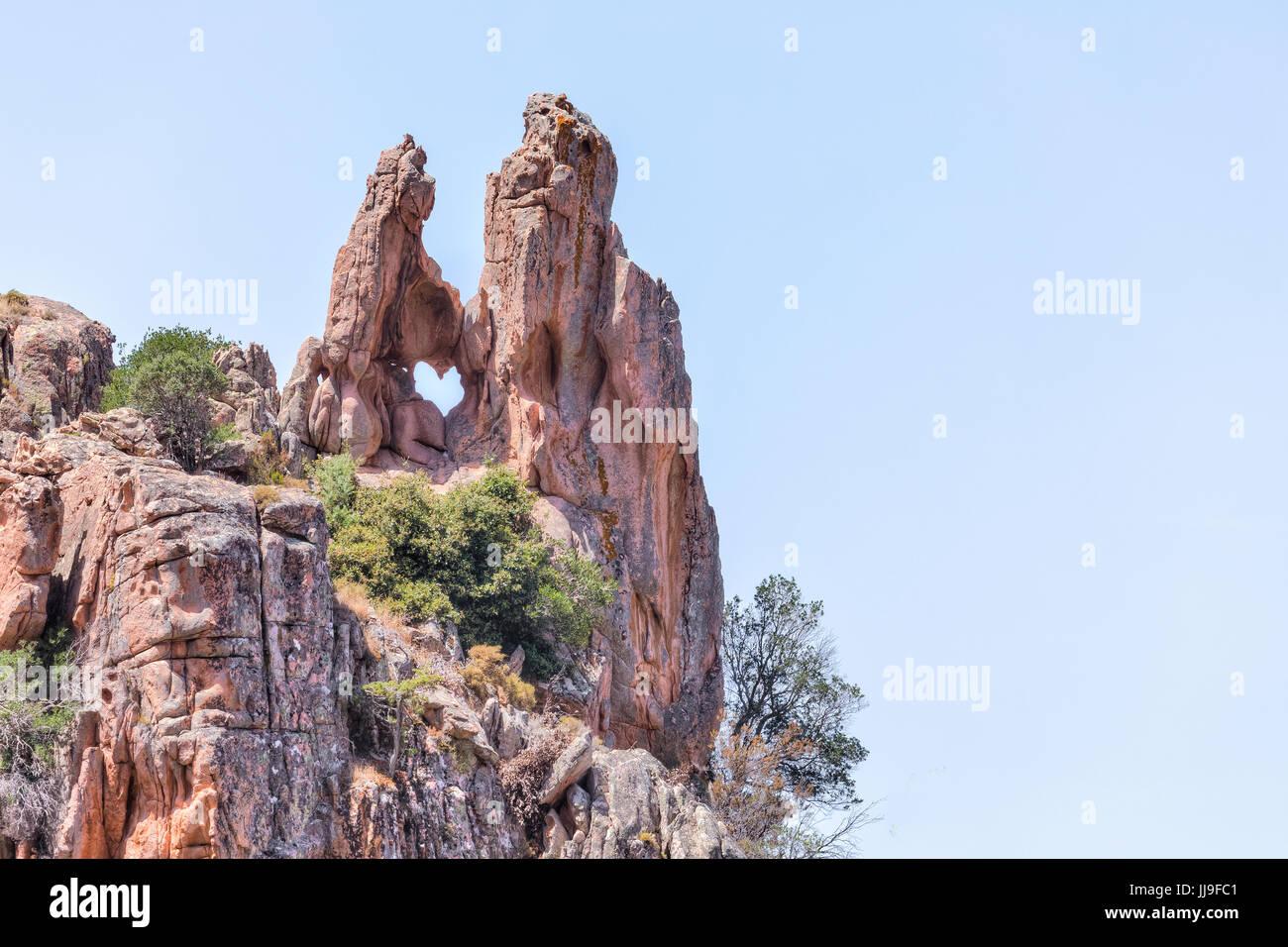 Le Coeur, Calanques de Piana, Piana, Corsica, France - Stock Image