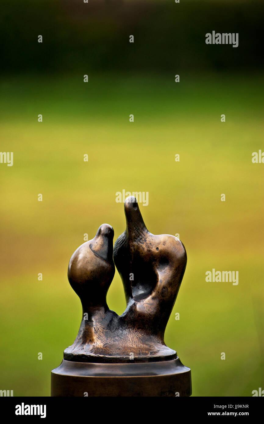 henry moor sculpture - Stock Image
