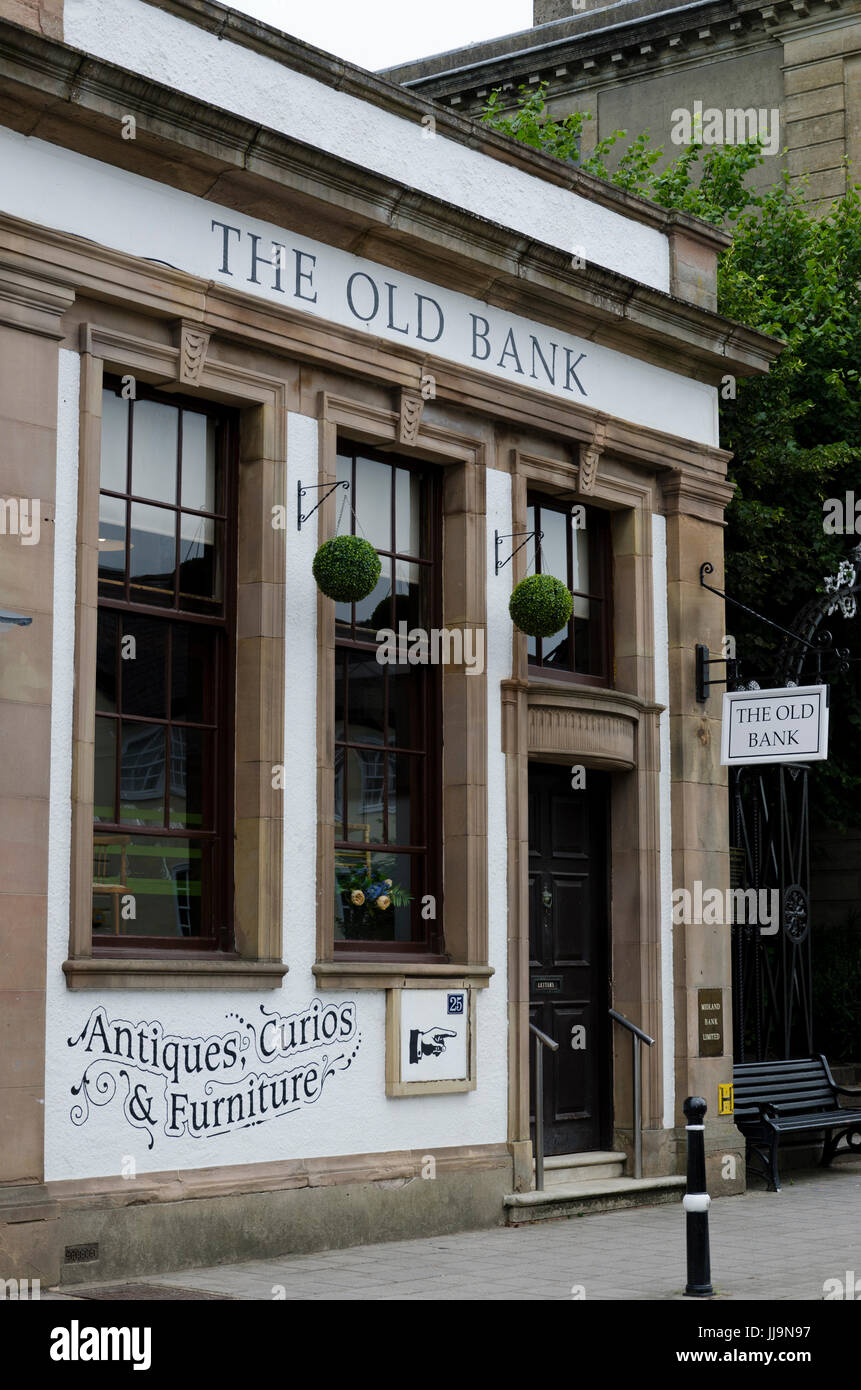 Old bank building, South Molton, Devon - Stock Image
