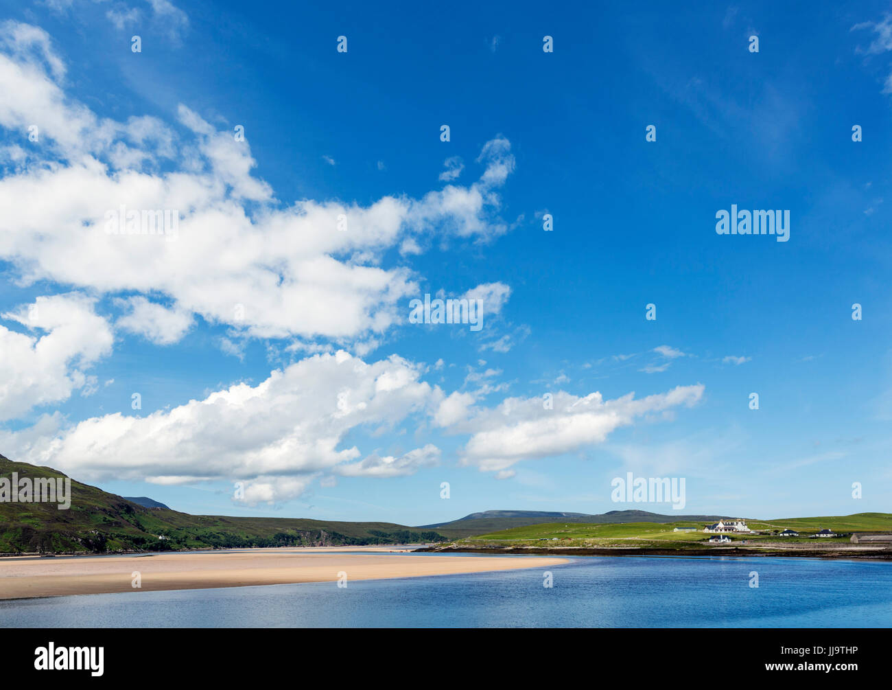 Kyle of Durness, near Keoldale on the North Coast 500, Sutherland, Scottish Highlands, Scotland, UK - Stock Image