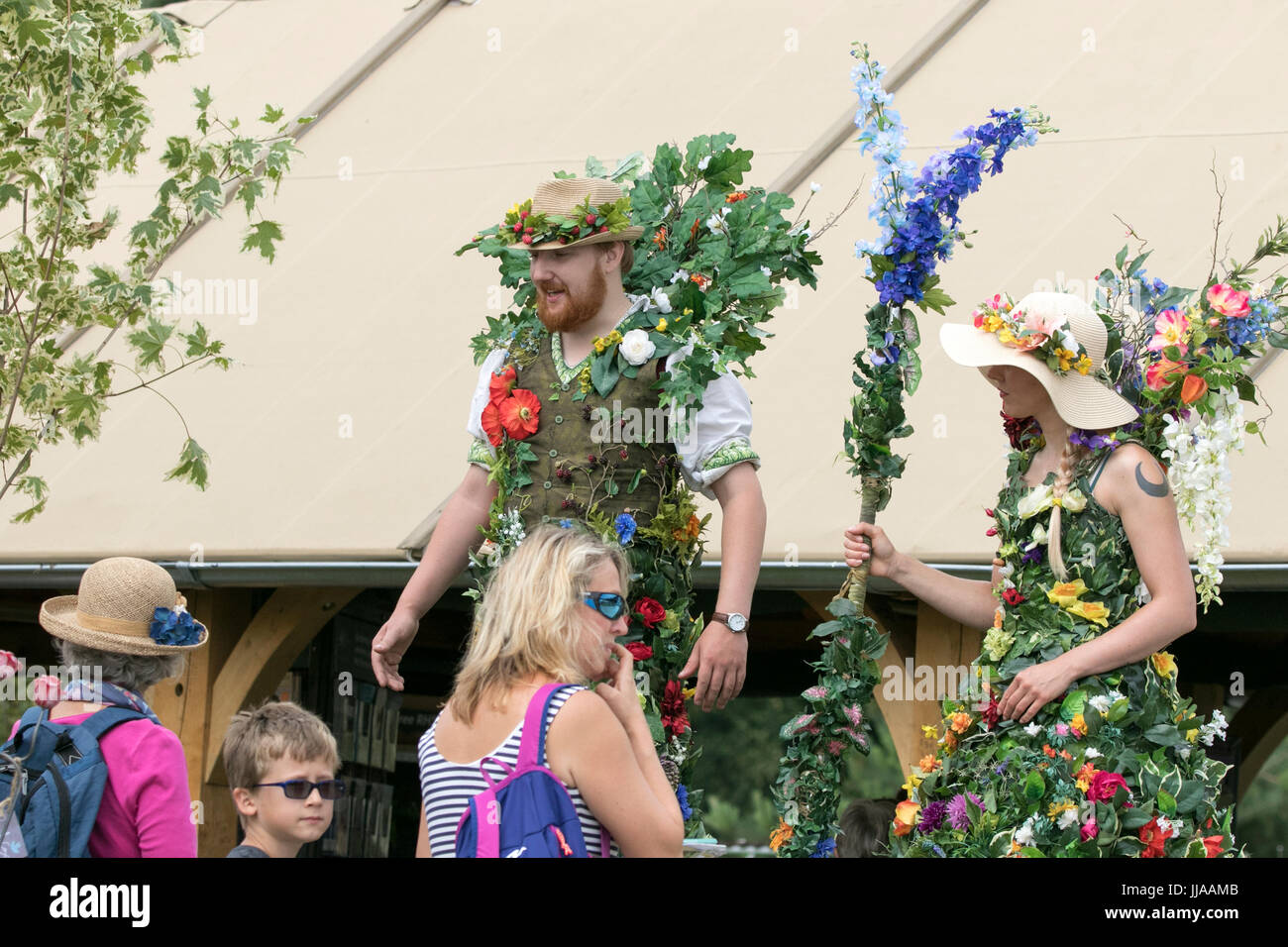 RHS Tatton Park Flower Show, Knutsford, Cheshire. 19th July 2017. The gates open on this years floral masterclass - Stock Image