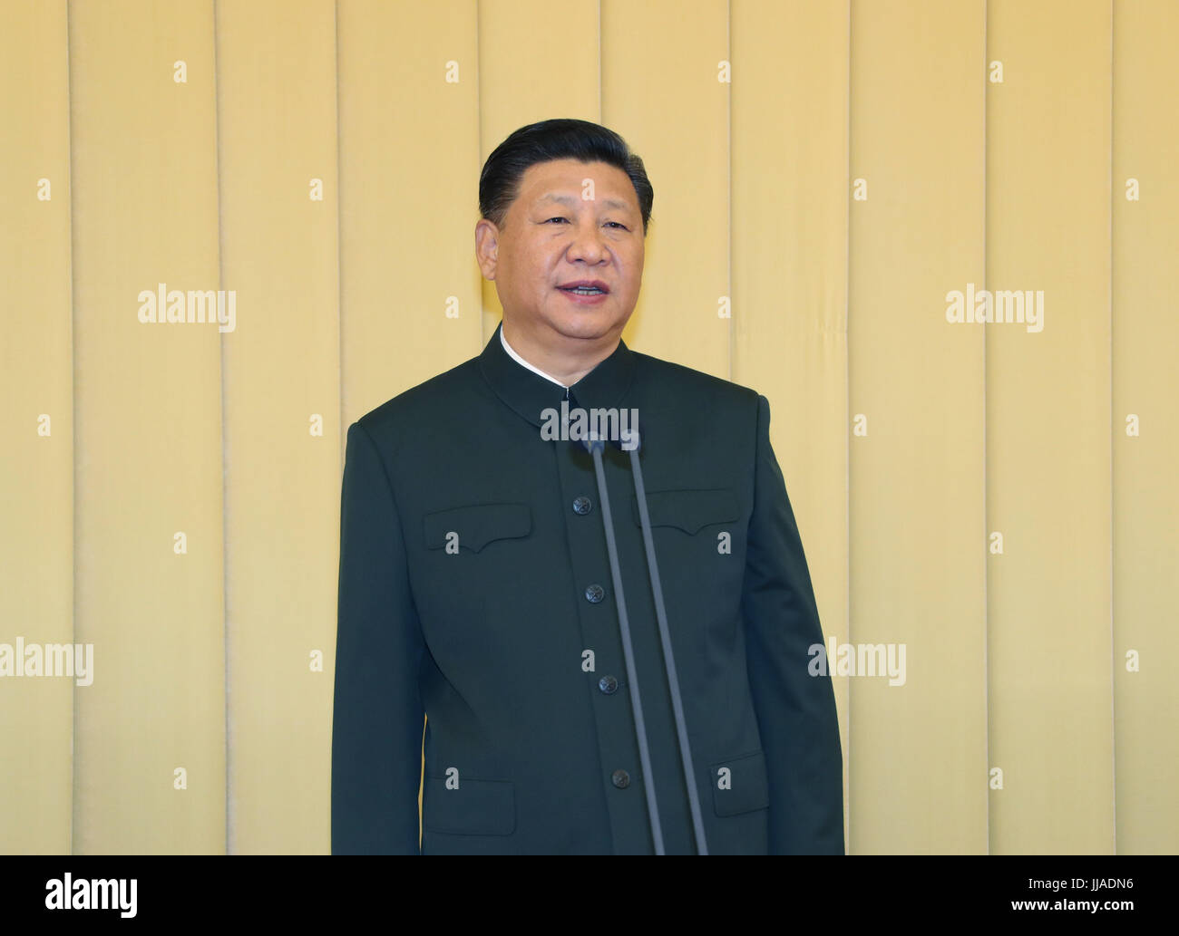 Beijing, China. 19th July, 2017. Chinese President Xi Jinping, also general secretary of the Communist Party of - Stock Image
