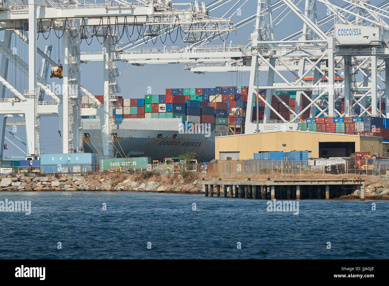 COSCO SHIPPING Container Ship, COSCO AMERICA, Being Unloaded In The