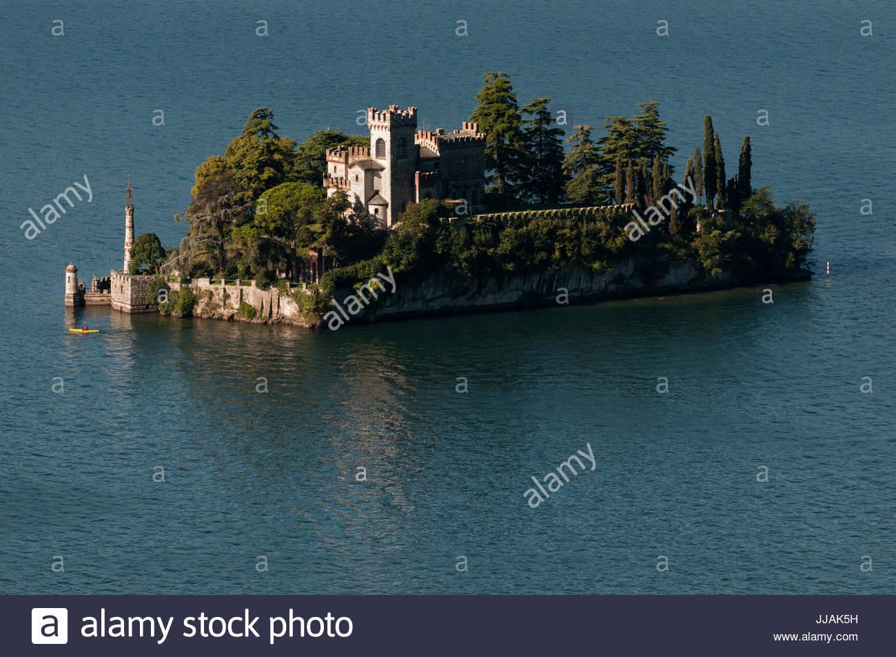 Isola di Loreto summer view, Lake Iseo, Lombardy - Stock Image