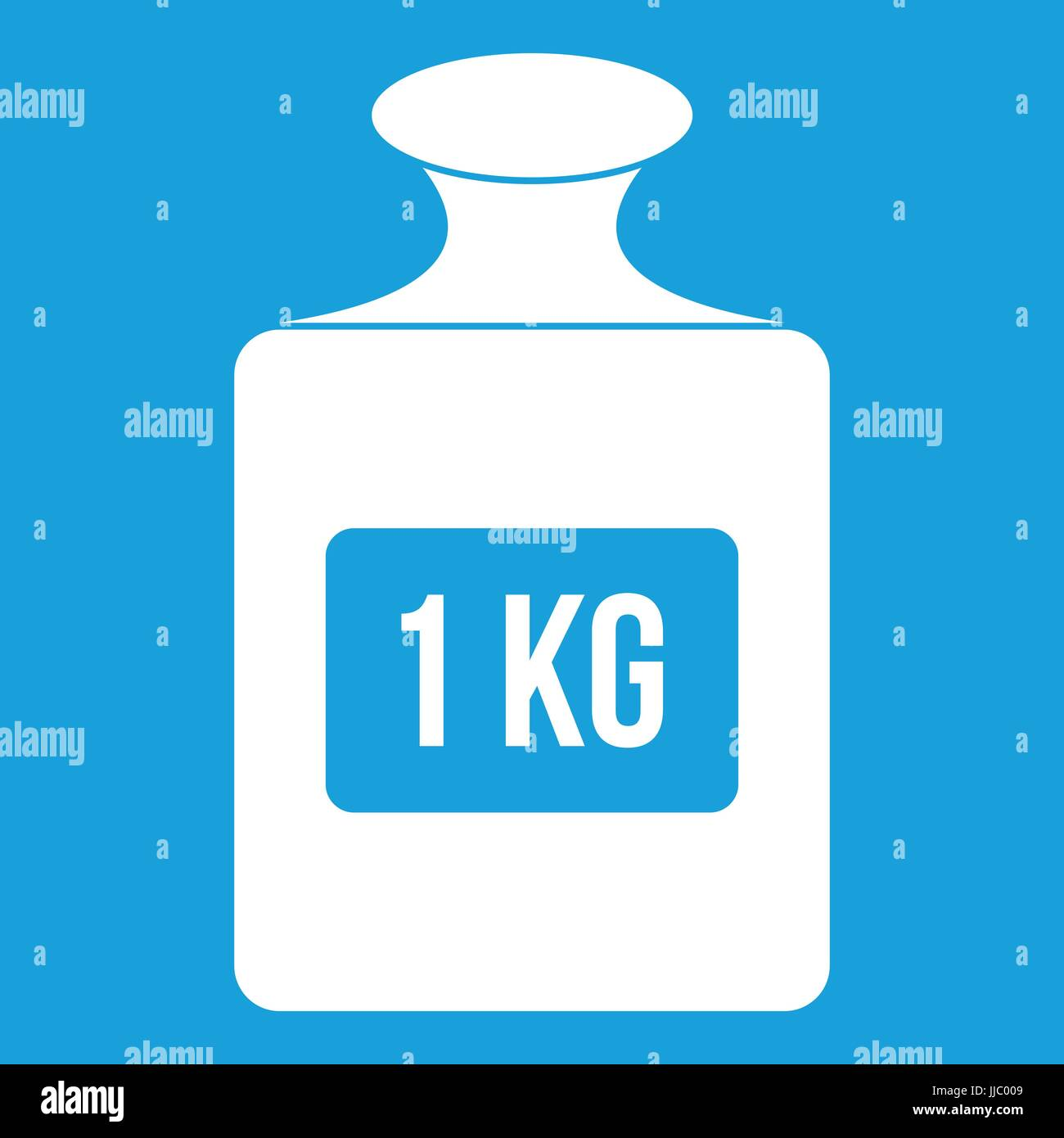 One kilogram weight pattern, simple style - Stock Image
