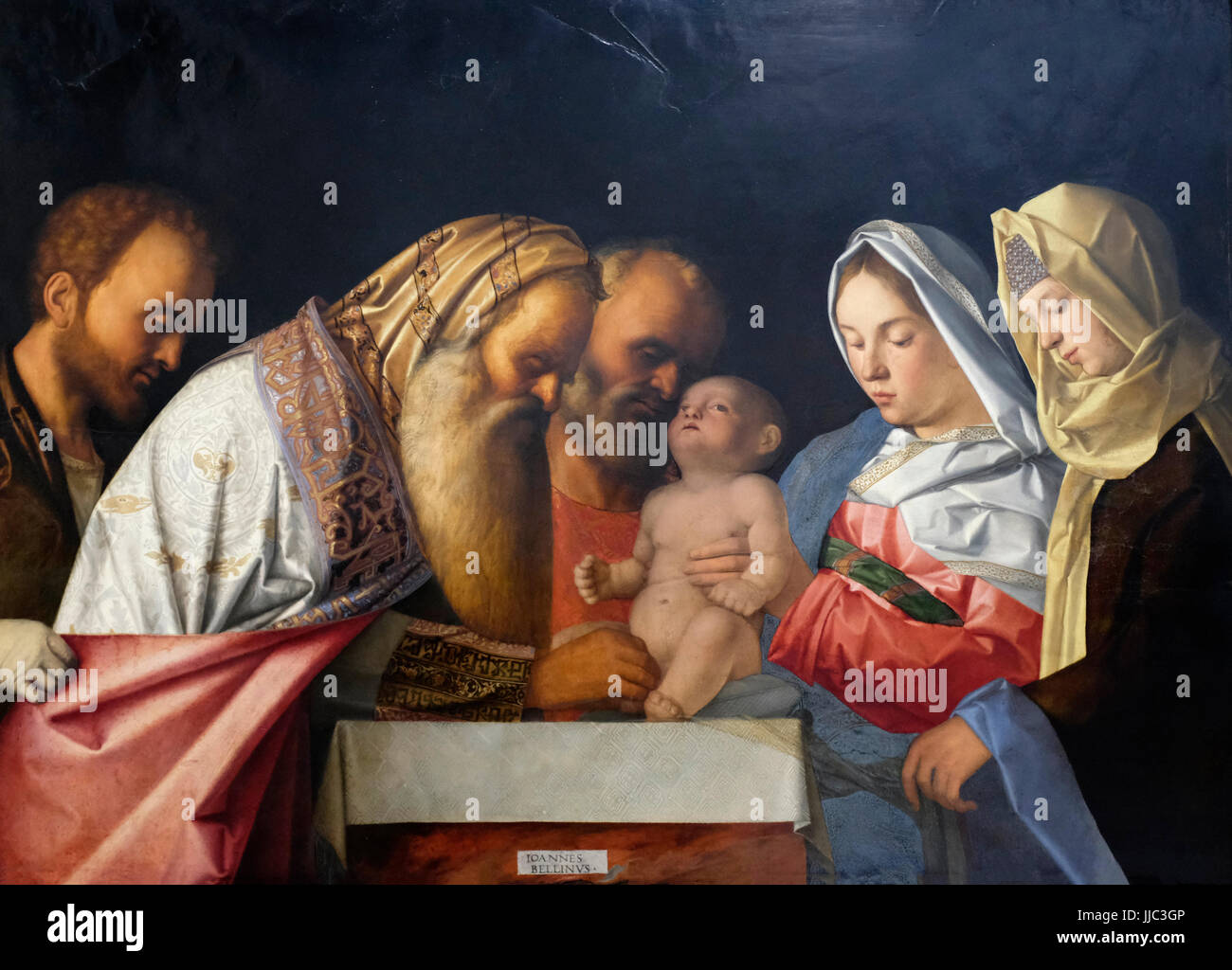 The Circumcision, circa 1500 - Workshop of Giovanni Bellini Stock Photo