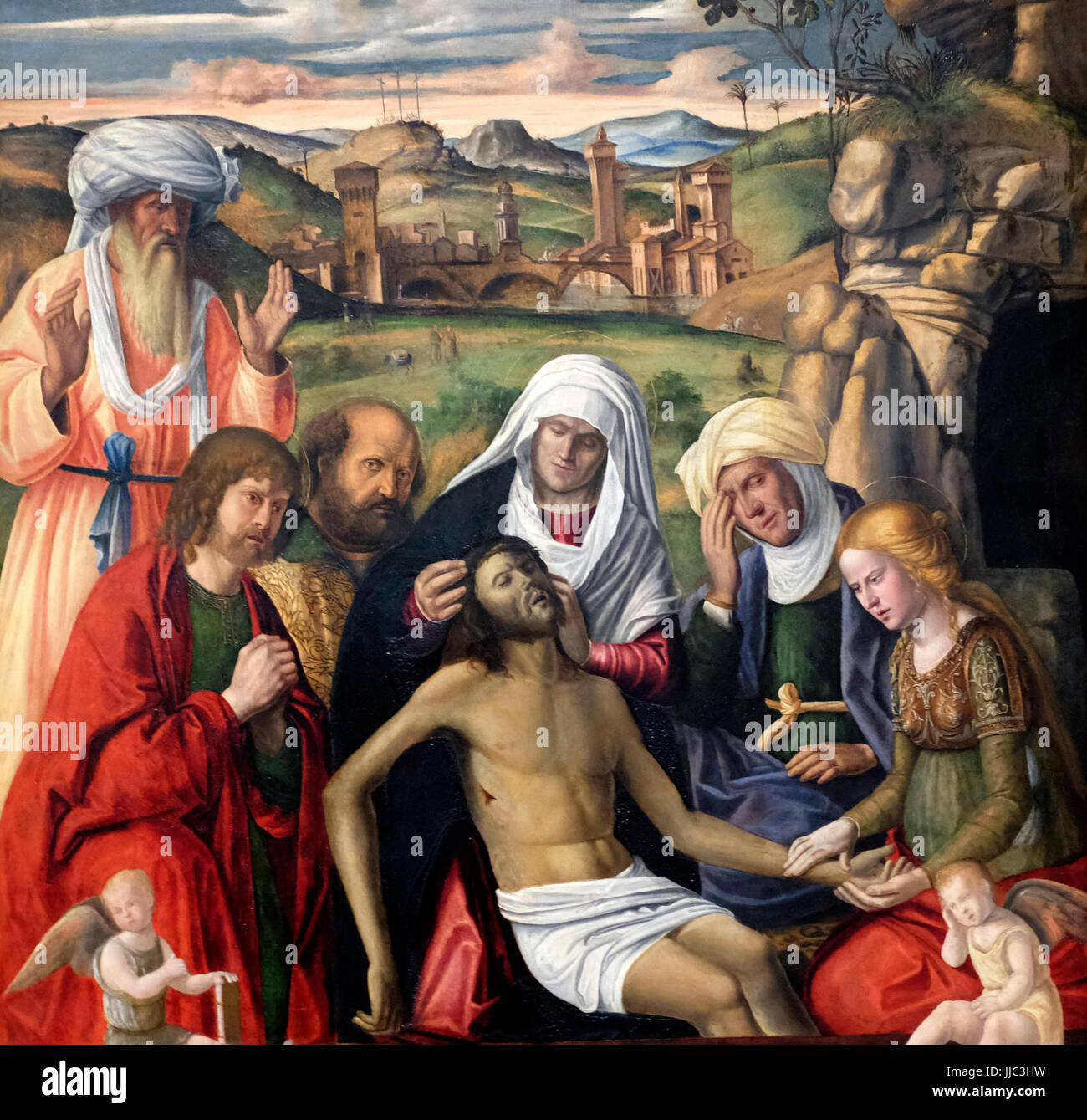 The Entombment, circa 1512 - Andrea Busati - Stock Image