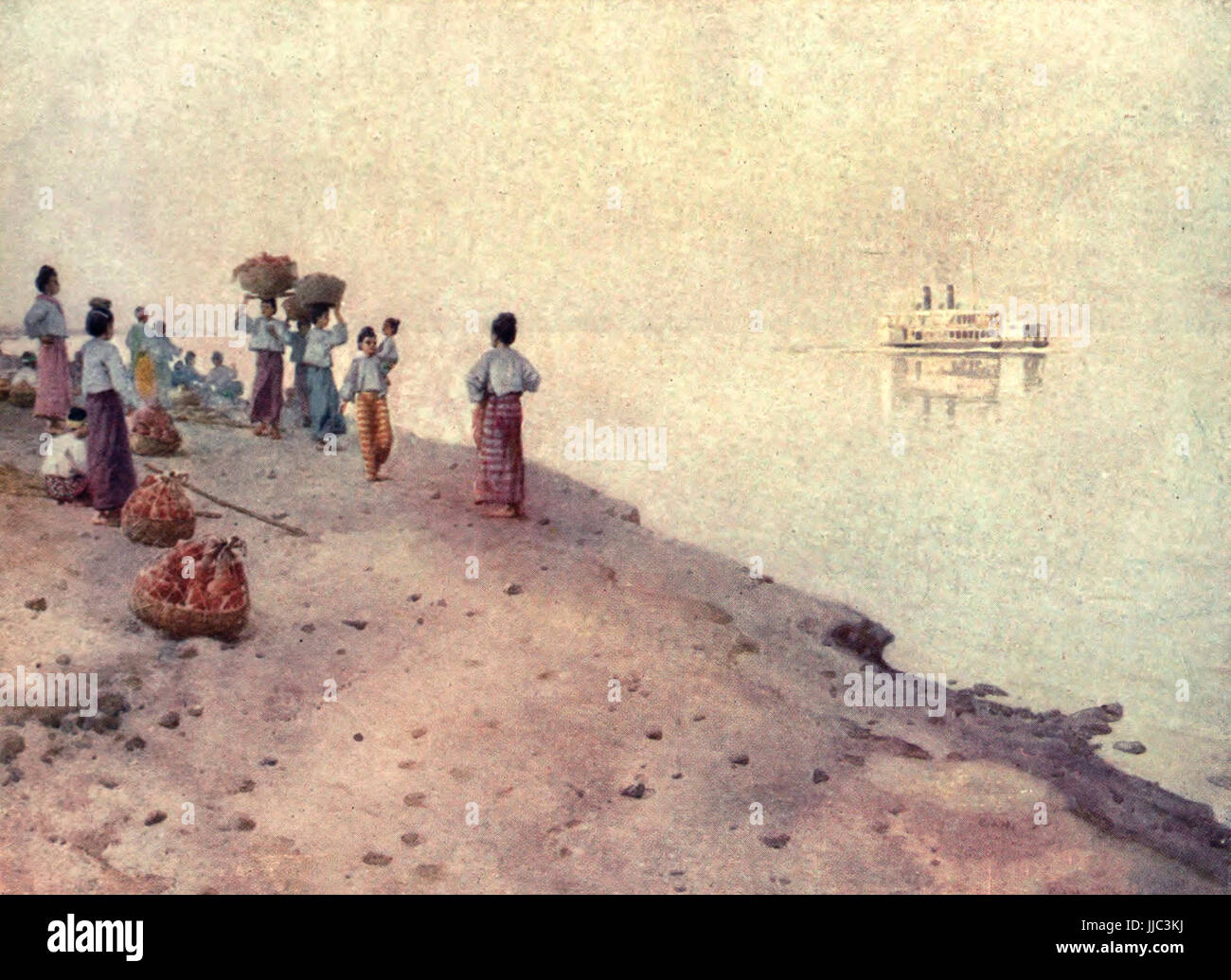 The Irrawaddy - Burma, circa 1908 - Stock Image