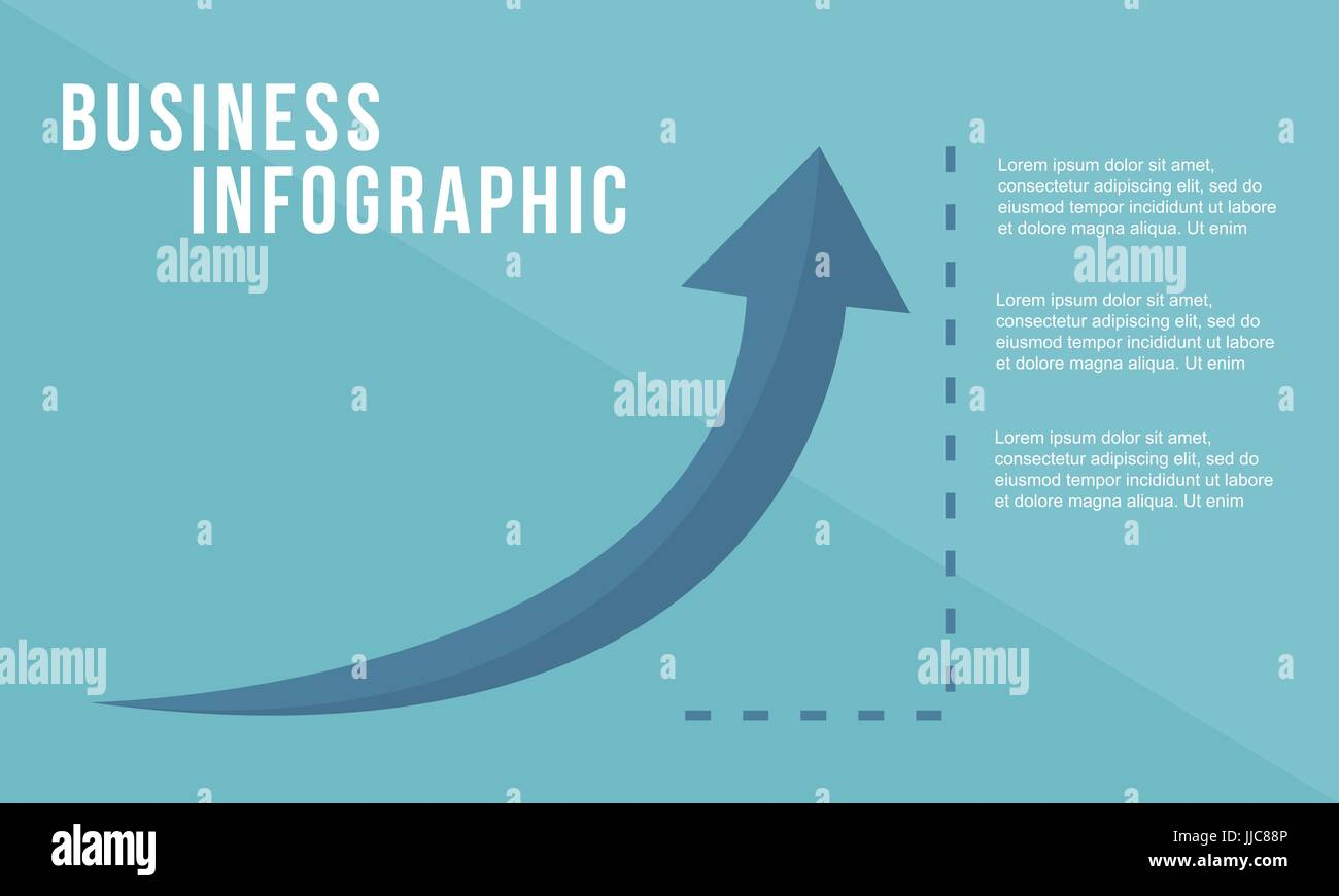 Business growth arrow design style - Stock Image