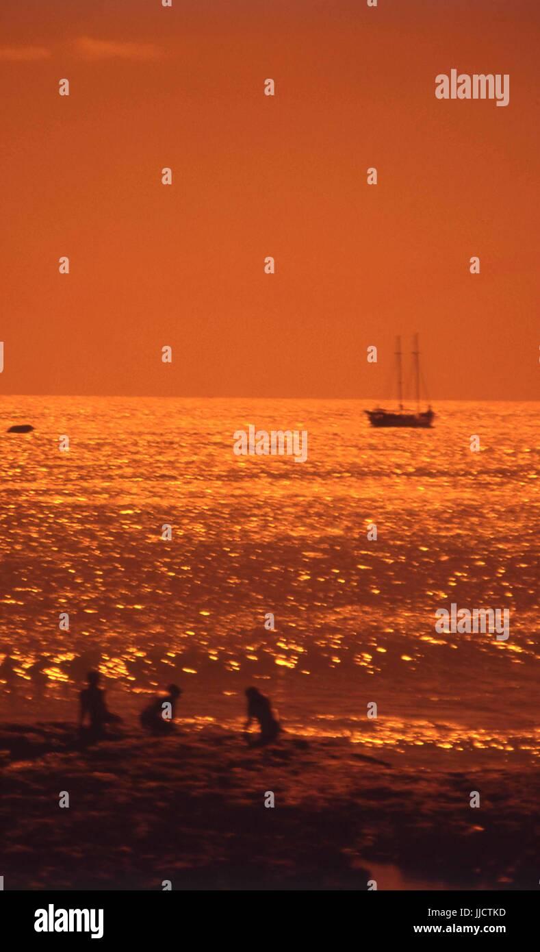 Sunset, Fortaleza, Ceará, Brazil Stock Photo
