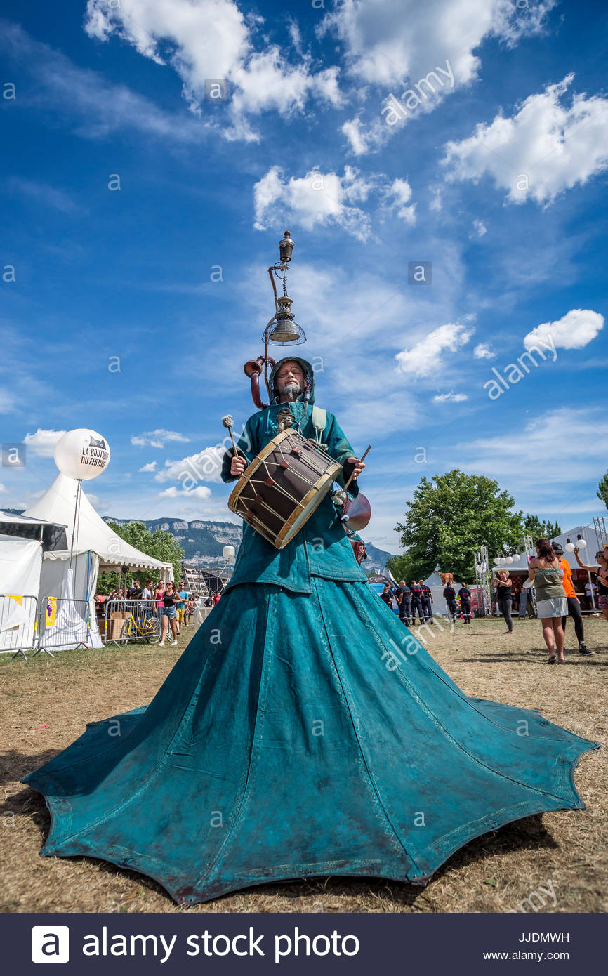 Musilac summer festival in Aix-les-Bains (France) - Stock Image