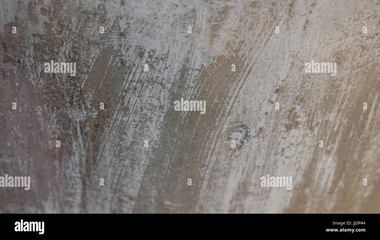 Brush Marks Abstract and Backgrounds Paint on Concrete - Stock Image