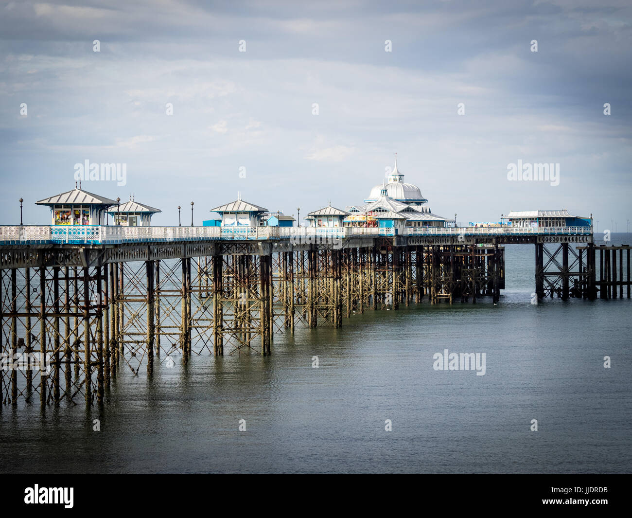 Llandudno Pier in the North Wales seaside resort of Llandudno. The current pier was opened in 1877. - Stock Image