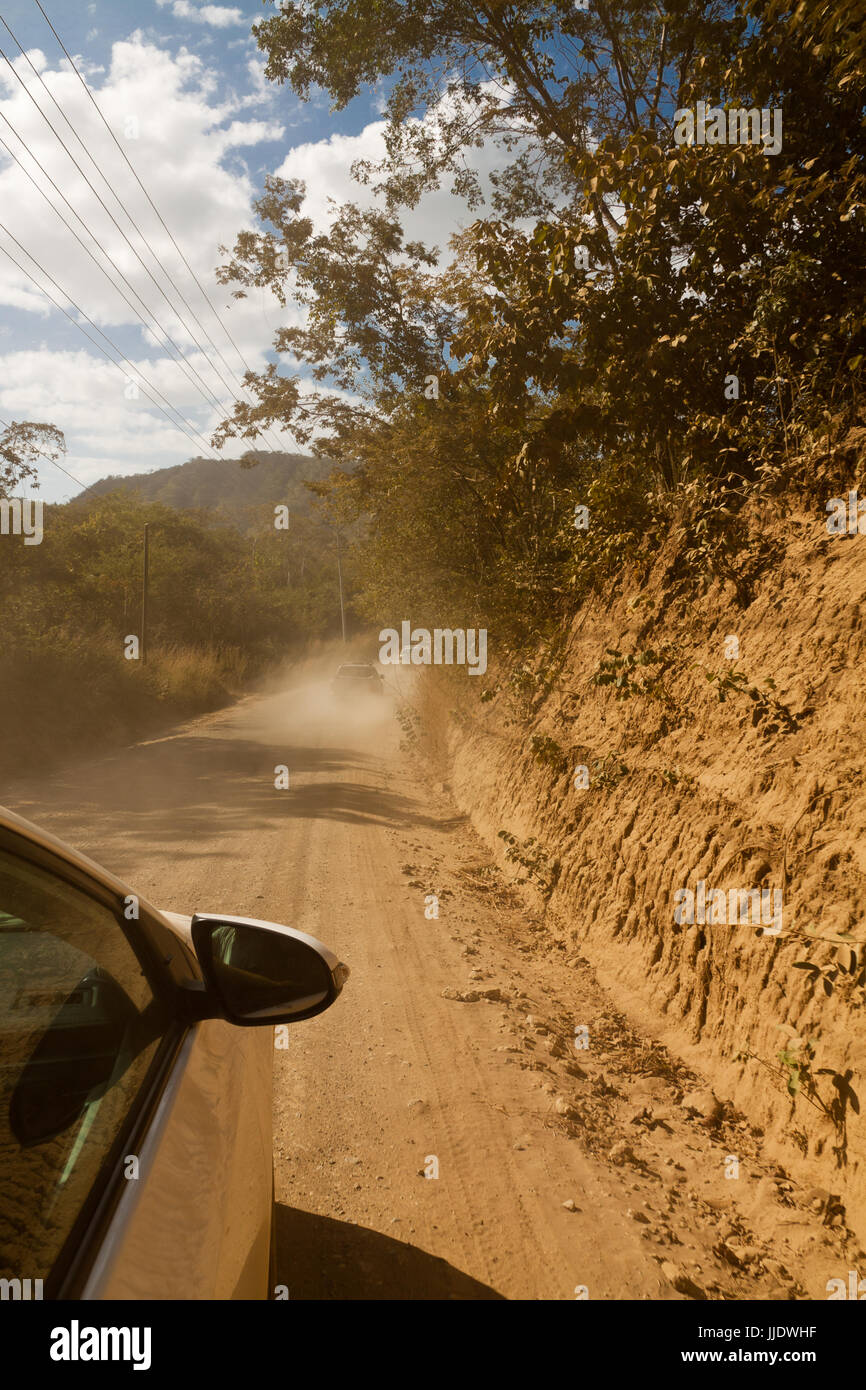 Offroad car driving - Stock Image