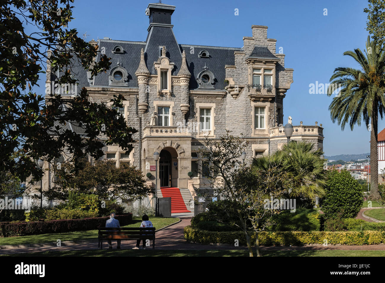 NH Palace de Oriol, a mansion from the beginning of the 20th century, of tourist interest. Witness of the splendor - Stock Image