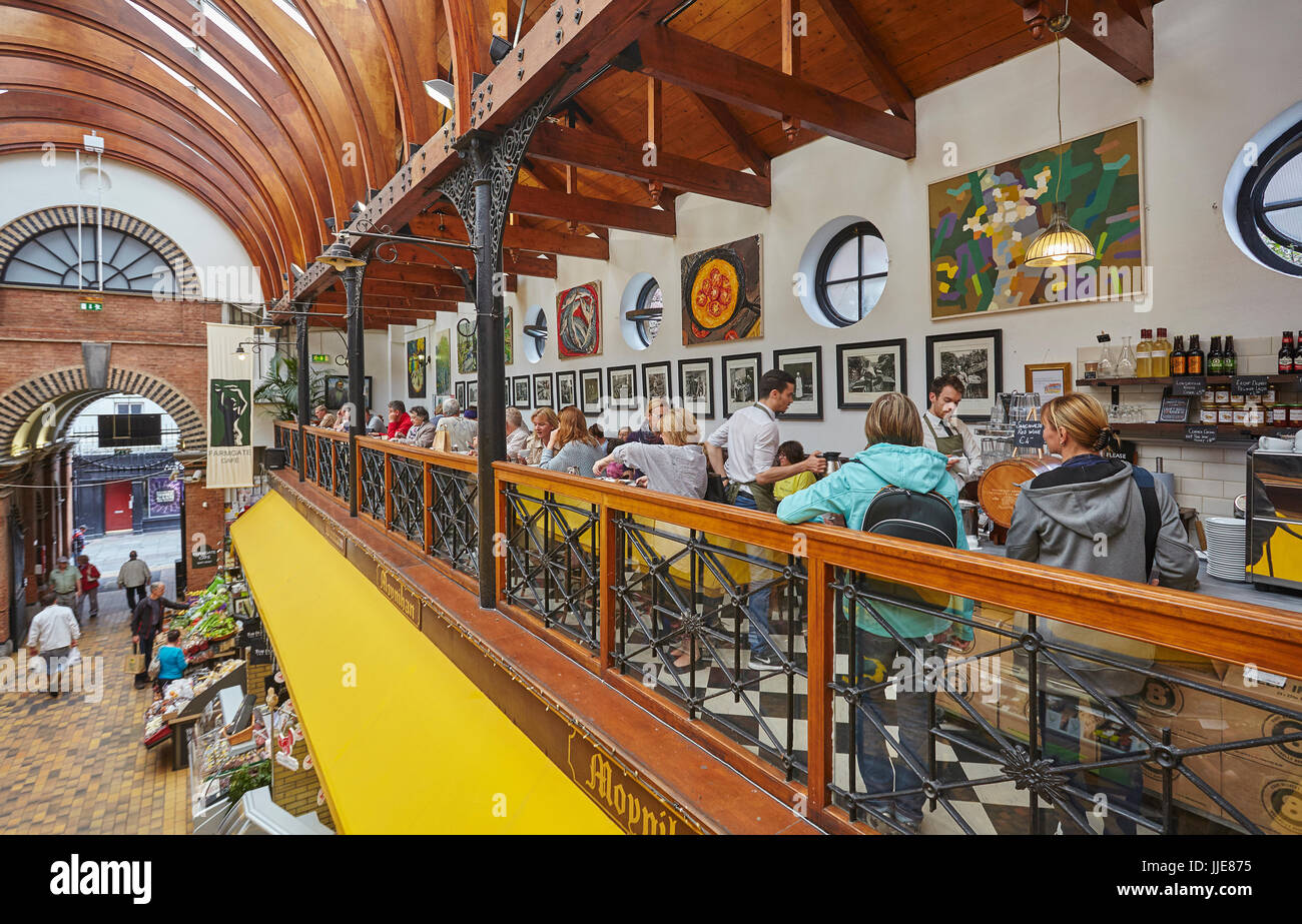 A scene in the English Market, and historic site and popular visitor attraction, in Cork, Ireland. - Stock Image