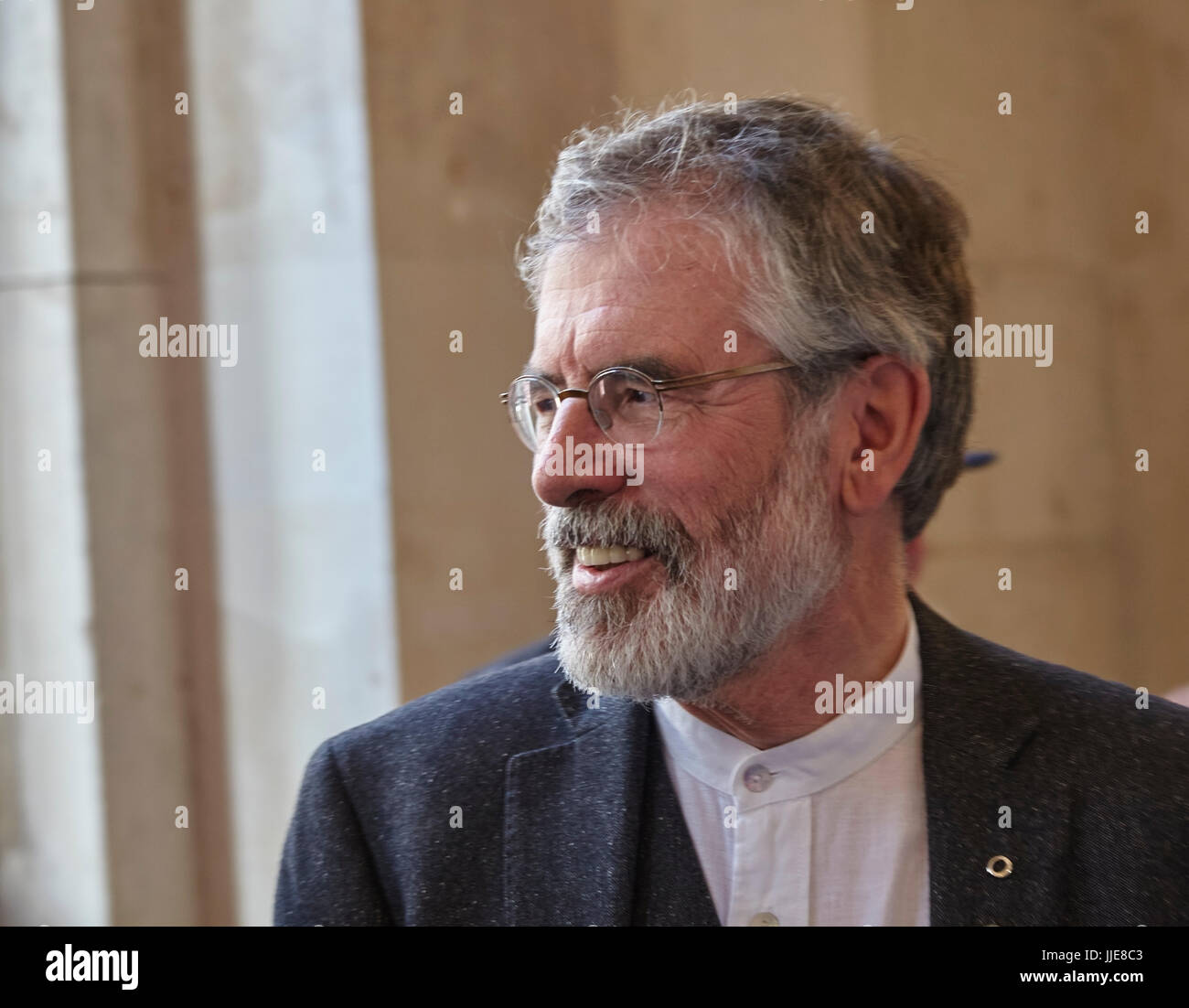 Gerry Adams, head of the Irish politcal party Sinn Fein, seen in Dublin, Ireland. - Stock Image