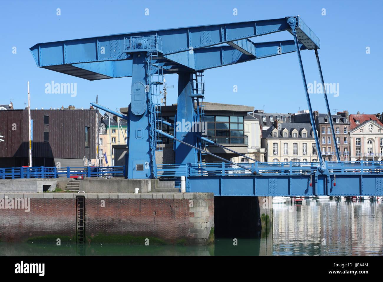 Ango Bridge, Dieppe, Normandy, France - Stock Image