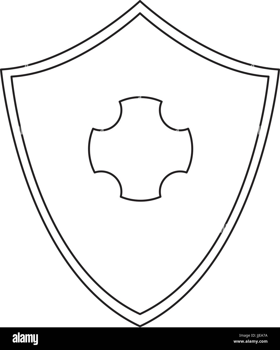shied protection healthcare safety symbol design - Stock Image