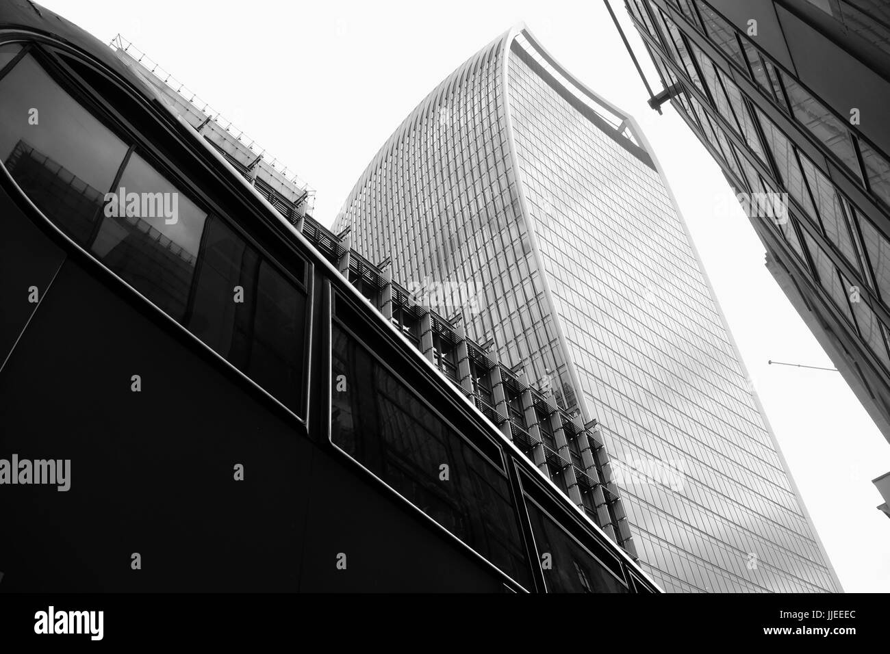 A view of the Walkie Talkie Building in Fenchurch Street, London, the financial district of the capital. Stock Photo