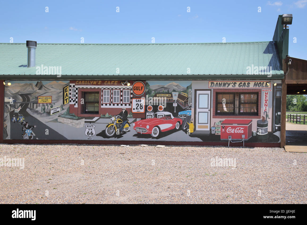 fanning outpost on route 66 missouri - Stock Image