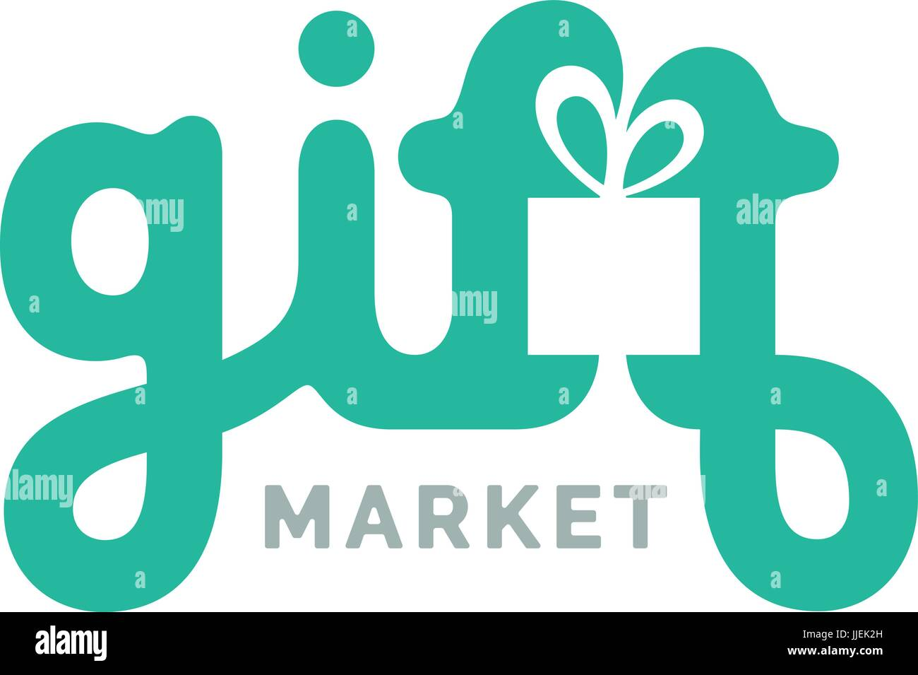 Gifts Logo With Box Symbol Creative Logo Design Vector Lettering Stock Vector Image Art Alamy