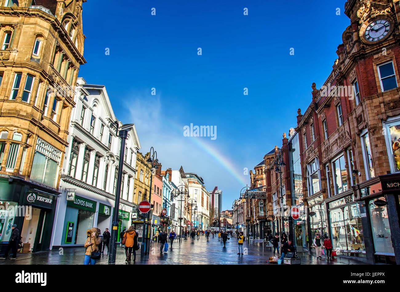 Rainbow at Leeds - Stock Image