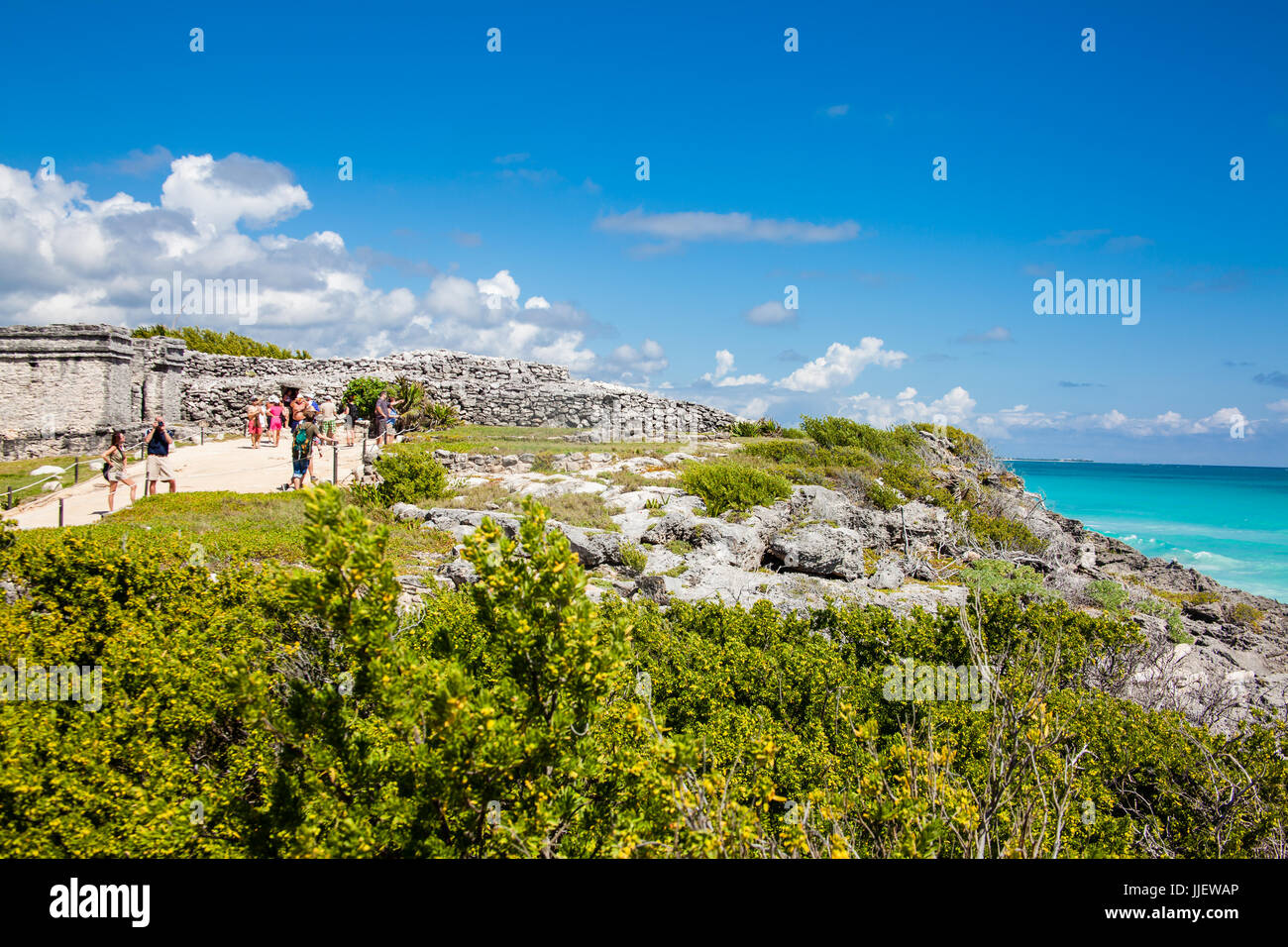 Archaeological ruins of Tulum - Quintana Roo, Mexico - Stock Image