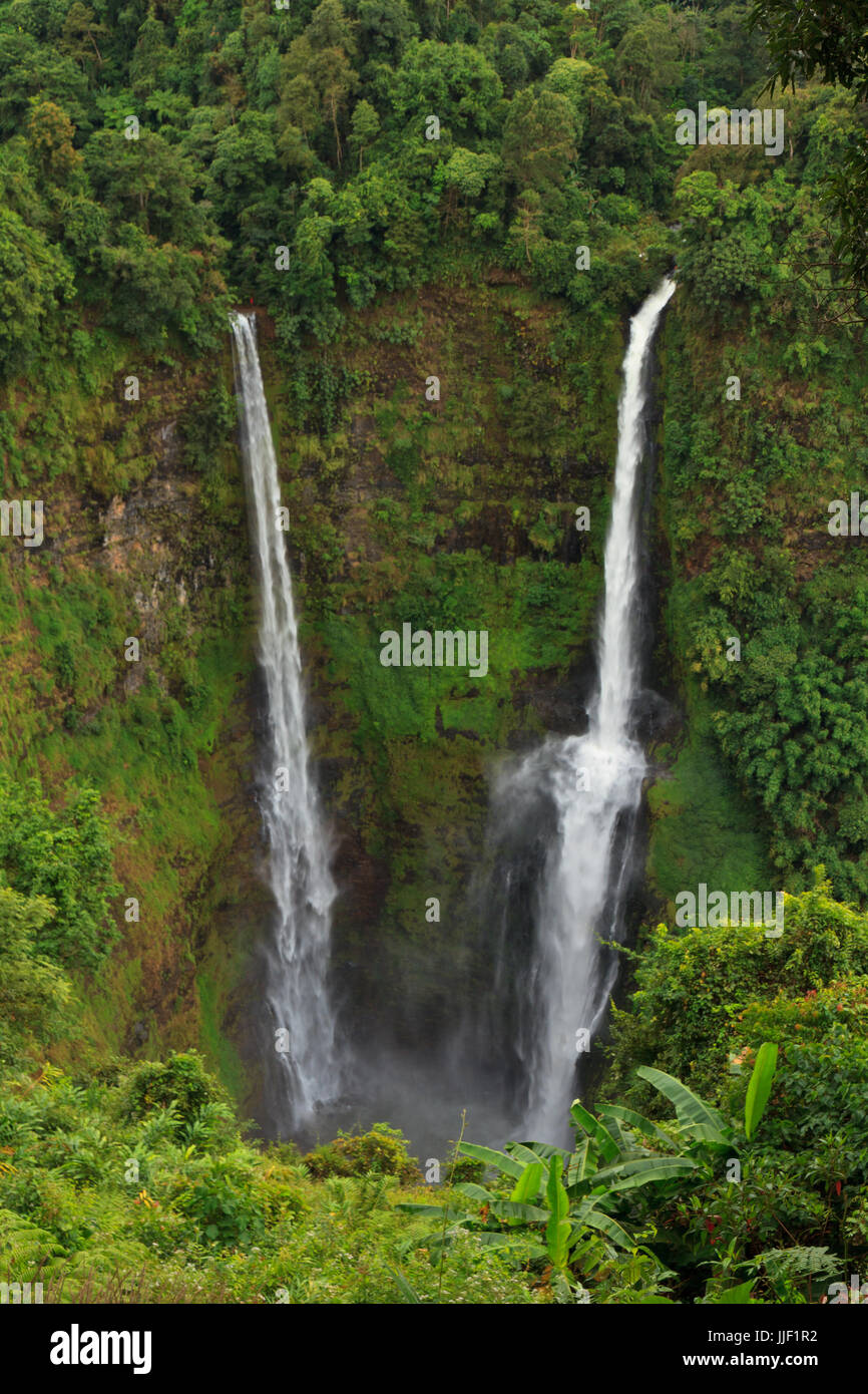 Landscape of Tad Fan waterfall Stock Photo