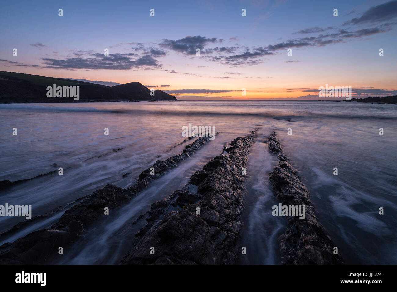 Crackington Haven in Cornwall. - Stock Image