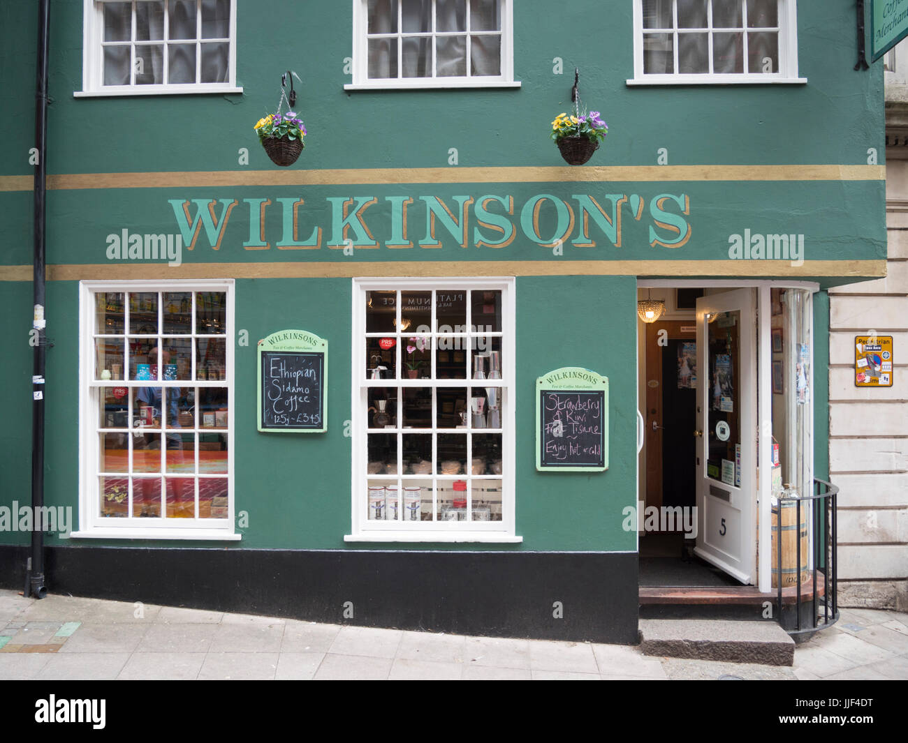 Wilkinsons tea and coffee merchant shop in Norwich Norfolk UK - Stock Image