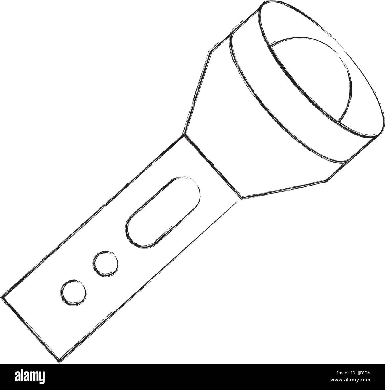 flash lantern isolated icon - Stock Image