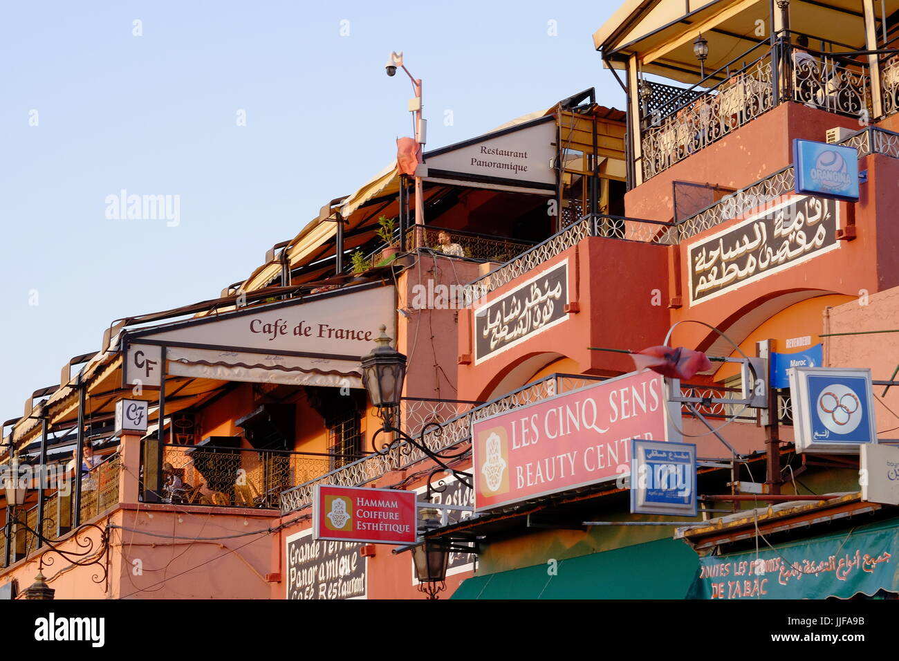 Rooftop bars, Marrakech, Morocco, - Stock Image