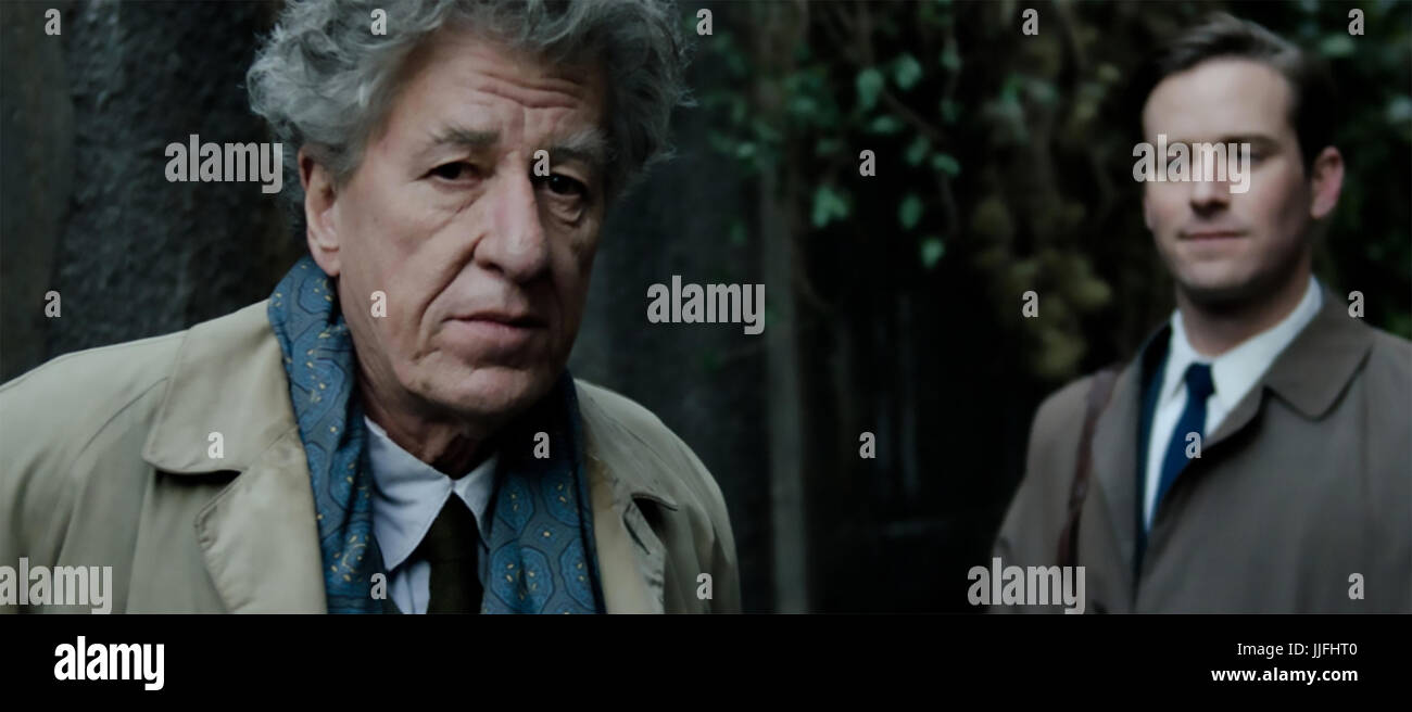 FINAL PORTRAIT 2017 Potboiler Productions film with Geoffrey Rush at left and Armie Hammer - Stock Image