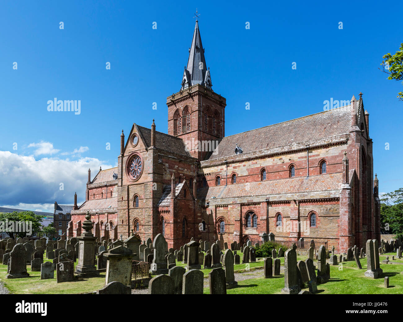 St Magnus Cathedral, Kirkwall, Mainland, Orkney, Scotland, UK - Stock Image