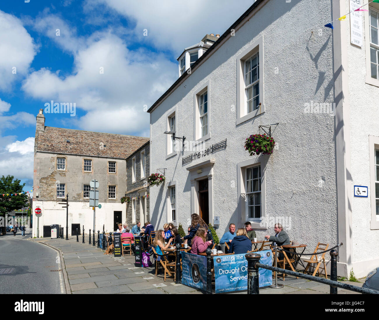 Cafe on Broad Street in the town centre, Kirkwall, Mainland, Orkney, Scotland, UK - Stock Image